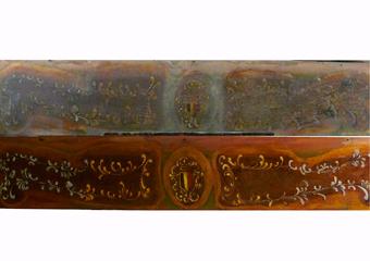 Pianoforte meccanico a carica inizio 1900. Intervento di GRAZIOLI ROBERTA sul recupero  nel 1° pannello in alto.