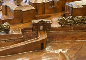 Plastico di Bergamo Alta in legno del 1934. Porta San Giacomo.