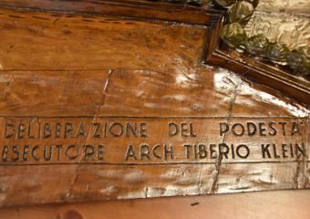 Plastico di Bergamo Alta in legno del 1934. Deliberazione del Podestà, esecutore Arch. Tiberio Klein