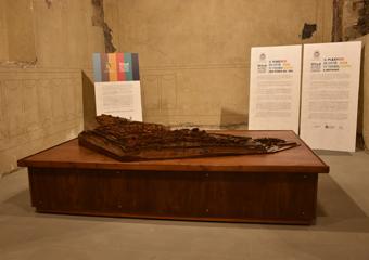 Plastico di Bergamo Alta in legno del 1934. Vista del plastico.