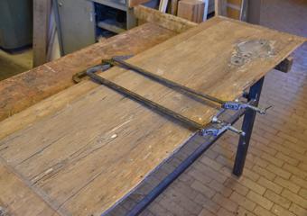 Portone 700'. Prime fasi di riparazione del pannello.