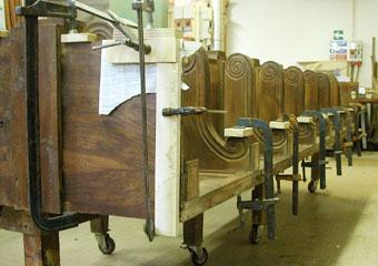 Parrocchia B.V. Annunziata in Ascensione di Costa Serina BG. Durante il restauro, riparazioni sul corpo superiore.